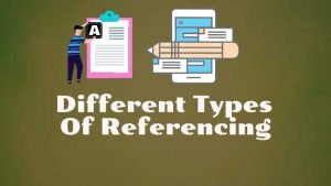 different types of referencing
