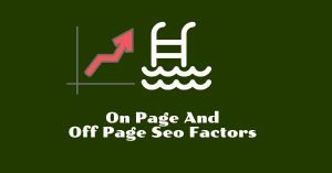 on page and off page seo factors